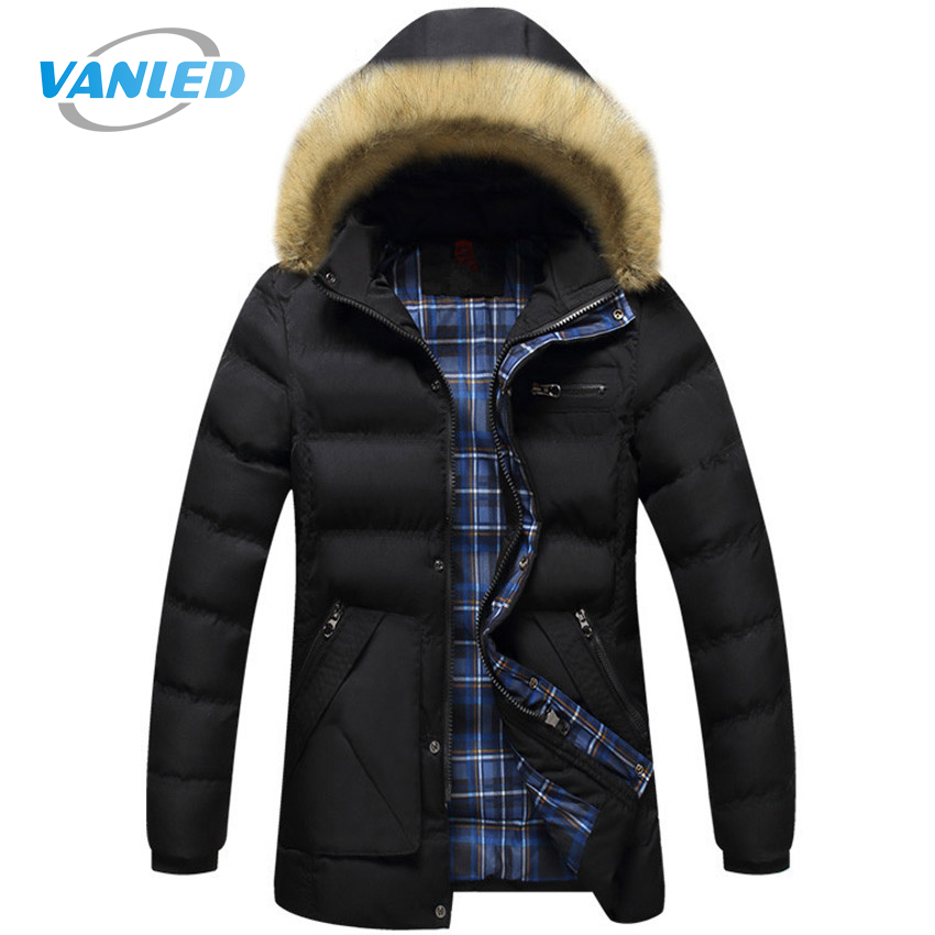 2017 Men's Jackets Winter Fur Collar Long Coats New Men Parkas Thicken Warm Casual Male Jackets Hooded Brand Clothing