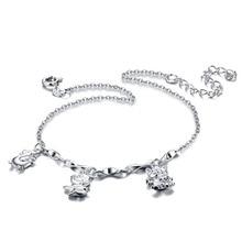 Женщины 925 чистого серебра ножной браслет ; корейского горячего регулируемая ножной браслет ; сладкий и прекрасный ; корея ювелирные изделия ;