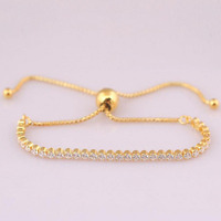 2018 Authentic 925 Silver Charms Beads gold color shinning bracelet Fit Original Bracelets Silver Jewelry Women gift