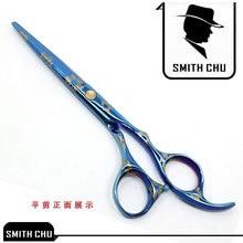 6.0Inch Hair Cutting Scissors with Bule Sakura Pattern Hair Scissors/Shears for Hairdressers JP440C, LZS0010 6 0inch hair cutting scissors with bule sakura pattern hair scissors shears for hairdressers jp440c lzs0010