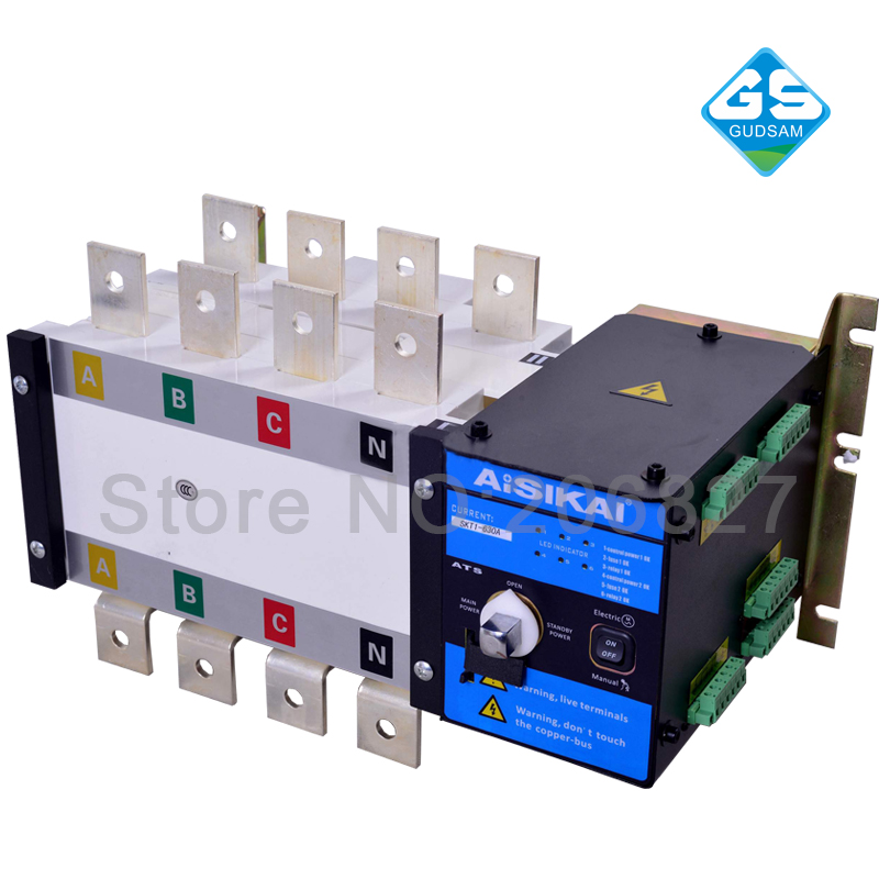 630A Three phase 4P genset automatic transfer switch (ATS  630A) mds400a 1600v 400a three phase