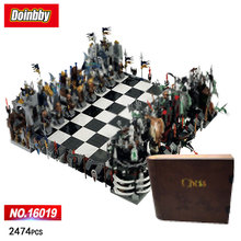 LEPIN 16019 Movie Classic Castle Giant Chess knight wizard Skeleton Figures Chariot Building Blocks Bricks Toys Kid Gift