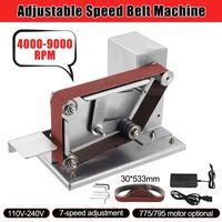 Mini Angle Grinder Electric Belt Sander with Adapter 30mm Polishing Grinding Machine Cutter Edges Sharpener Belt Grinder 775/795