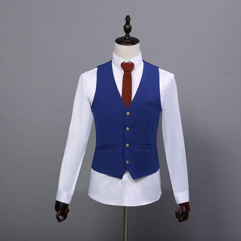 6.1 Autumn new England fashion casual men\`s vest vest Korean version of the self-cultivation suit vest male