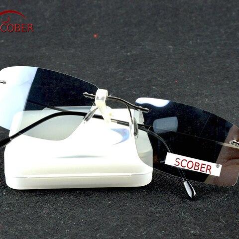 =SCOBER= Titanium Alloy Rimless Polarized sunglasses Super light Men NV Driving mirror Sunglasses designer SPORT sun glasses Lahore