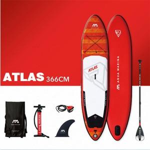 Image 5 - AQUA MARINA ATLAS planche de surf gonflable, palette debout, 366x84x15cm
