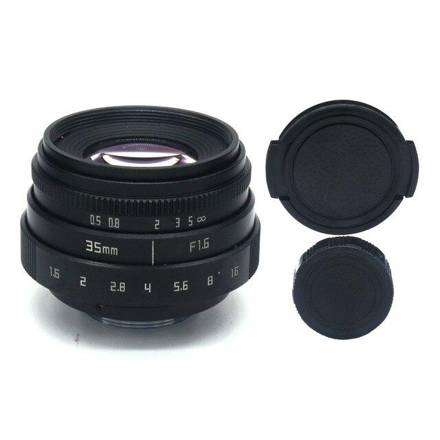 NEW Fujian 35mm F1.6 CCTV TV II Movie lens + C Mount for Canon EOS M  Mirrorless camera 2