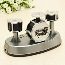 New Arrival Mini Finger Drum Set Touch Drumming LED Light Jazz Percussion Educational Music Toys For Children Gift