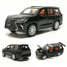 1:32 Lexus570 Alloy Car Pull Back Car Model Diecast Metal Toy Vehicles with Sound Light 6 Open Doors for Kids Gift Free Shipping(China)