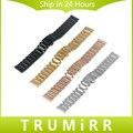 De liberación rápida de acero inoxidable correa de reloj 16mm 18mm 20mm 22mm universal band butterfly pulsera hebilla correa de repuesto 4 colores