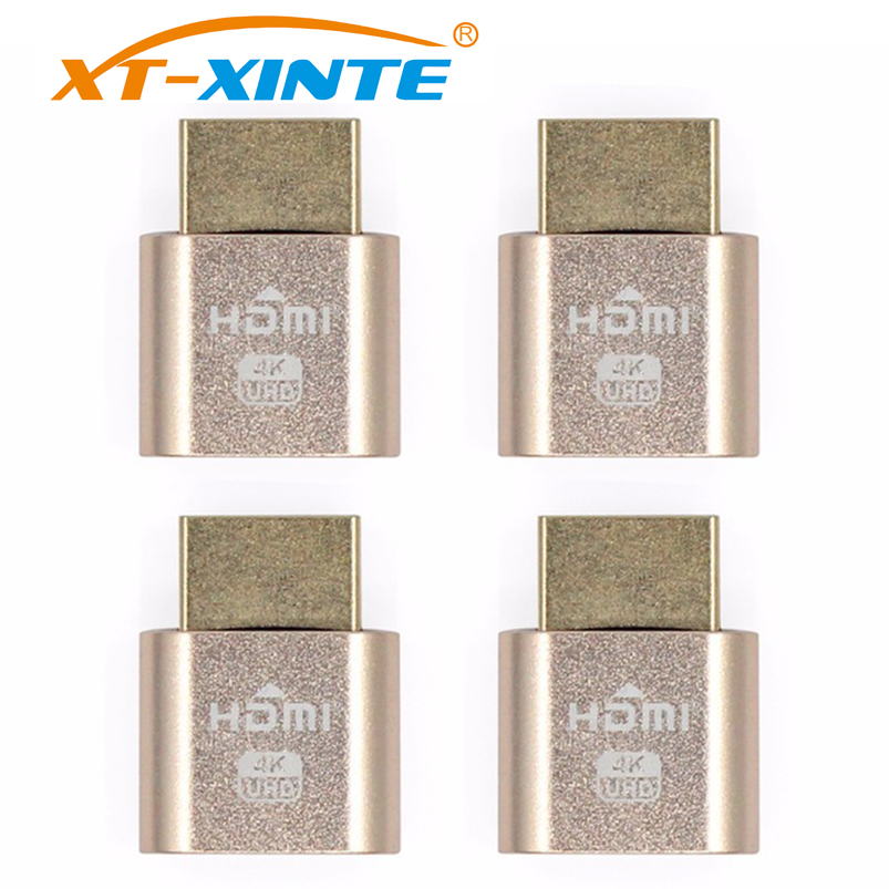 4pcs VGA Virtual Display Adapter HDMI 1 4 DDC EDID Dummy Plug Headless Ghost Display Emulator