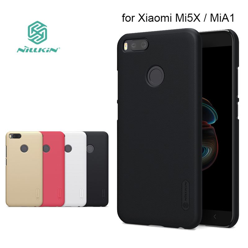 for Xiaomi MiA1 Mi 5X Nillkin Super Frosted Shield Hard Back PC Cover Case for Xiaomi Mi5X Mi A1 Phone Case + Screen Protector