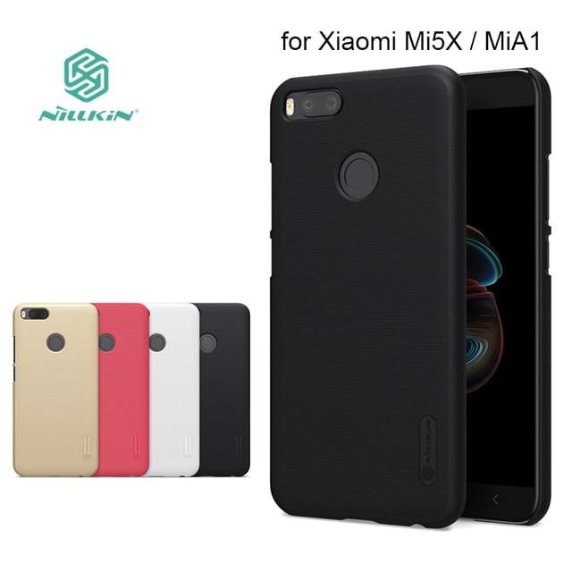 half off ea9ca 24847 for Xiaomi MiA1 Mi 5X Nillkin Super Frosted Shield Hard Back PC Cover Case  for Xiaomi Mi5X Mi A1 Phone Case + Screen Protector-in Half-wrapped Case ...
