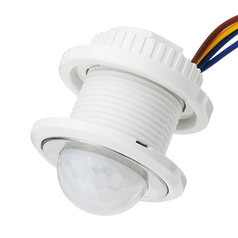 PIR Infrared Ray Motion Sensor Time Delay Adjustable Switch for Ceiling Lamp AC85-265V