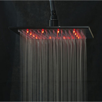 Oil Rubbed Broze LED Color Chaning Shower Head 10 In Square Shower Head Bathroom Over Head