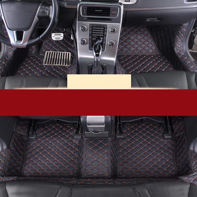 lsrtw2017 leather car interior floor mat trunk mat for volvo S60 2002 2018 2008 2009 2010 2011 2012 2013 2014 2015 2016 2017