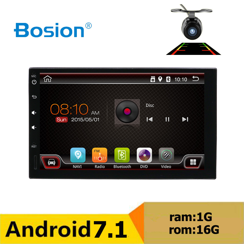 Android 7.1 Car DVD player 7'' Universal 2 Din car radio GPS Navigation fit nissan Qashqai audio Car radio bluetooth support SWC