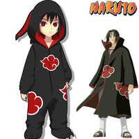 Begrenzte Editio Naruto Akatsuki Uchiha Itachi Cosplay Kostüme Frauen Mann Pyjamas Bademantel Erwachsene Kinder Warme Verdicken Overalls Anzüge