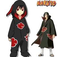 Limited Editio Naruto Akatsuki Uchiha Itachi Cosplay Costumes Women Man Pajamas Bathrobe Adult Kids Warm Thicken Jumpsuits Suits
