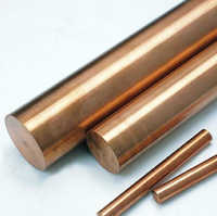 OD 8mm length 500mm Copper Round Bar  Red Copper Round Bar / Rod All sizes in stock  Free Shipping