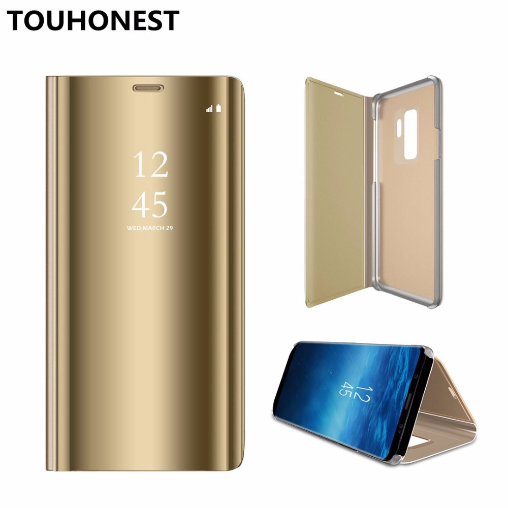 Mirror Clear View Flip Cover For Huawei honor note 10 nova 3 P smart Plus Play Mate 10 Pro P20