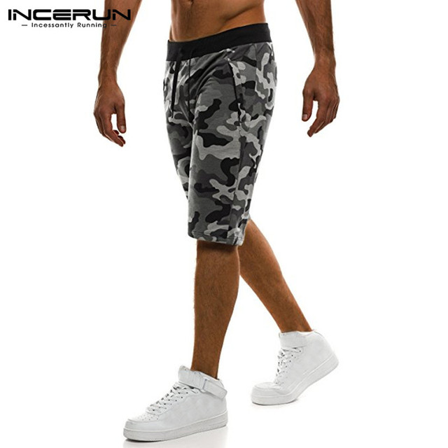 Camouflage Men's Shorts Loose Calf Length Sweatpants  1