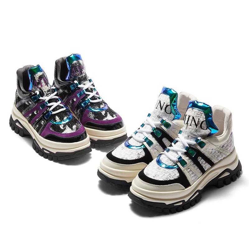 Negro De Zapatillas Zapatos Plataforma Deporte Las Chaussure hop Femme Blancas Grueso Transpirable Mujer Mujeres Igu blanco Para Hip Fondo 5Twq5