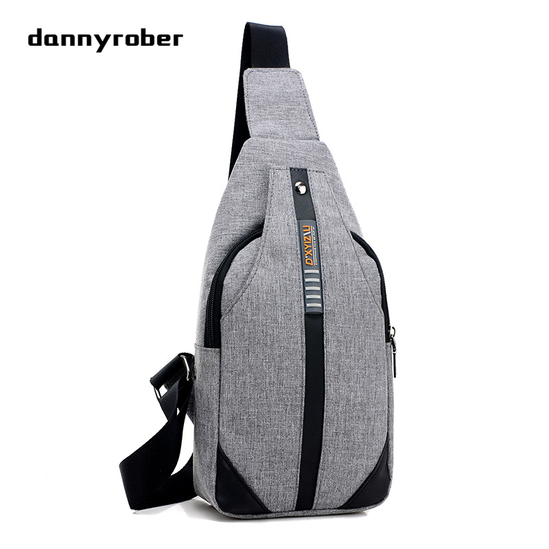 Dannyrober Store 2017 New Vintage Chest Pack Fashion Men Messenger Bags Casual Travel Bags Male Small Retro Shoulder Bag Chest Bag  F098
