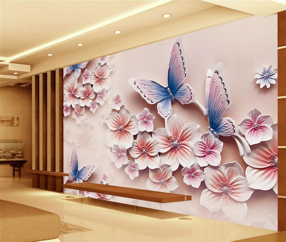 3d ulga malowid a romantyczny motyl pokoju tapety 3d for Design wohnzimmer accessoires