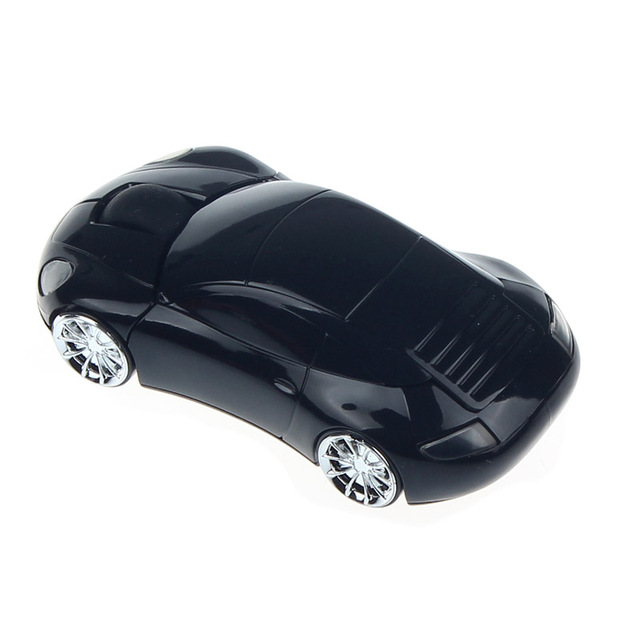 Silver and Black mouse 1600DPI Car Shape Optical USB Wireless Mouse ForLaptop Notebook PC  Machin ki gen Cool baby Wholesale