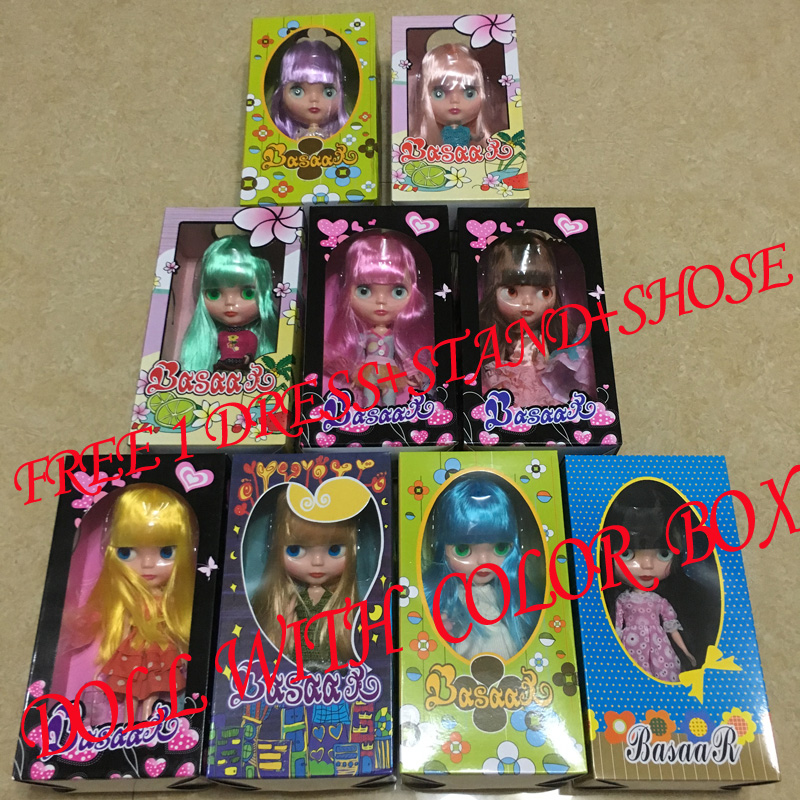 384j Doll Limited Gift Special Price Cheap Offer Toy Reasonable Free Shipping Top Discount 4 Colors Big Eyes Diy Nude Blyth Doll Item No Toys & Hobbies