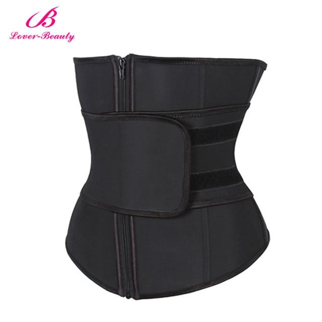 Lover Beauty Abdominal Belt High Compression Zipper Plus Size Latex Waist Cincher Corset Underbust Body Sweat Waist Trainer C 4