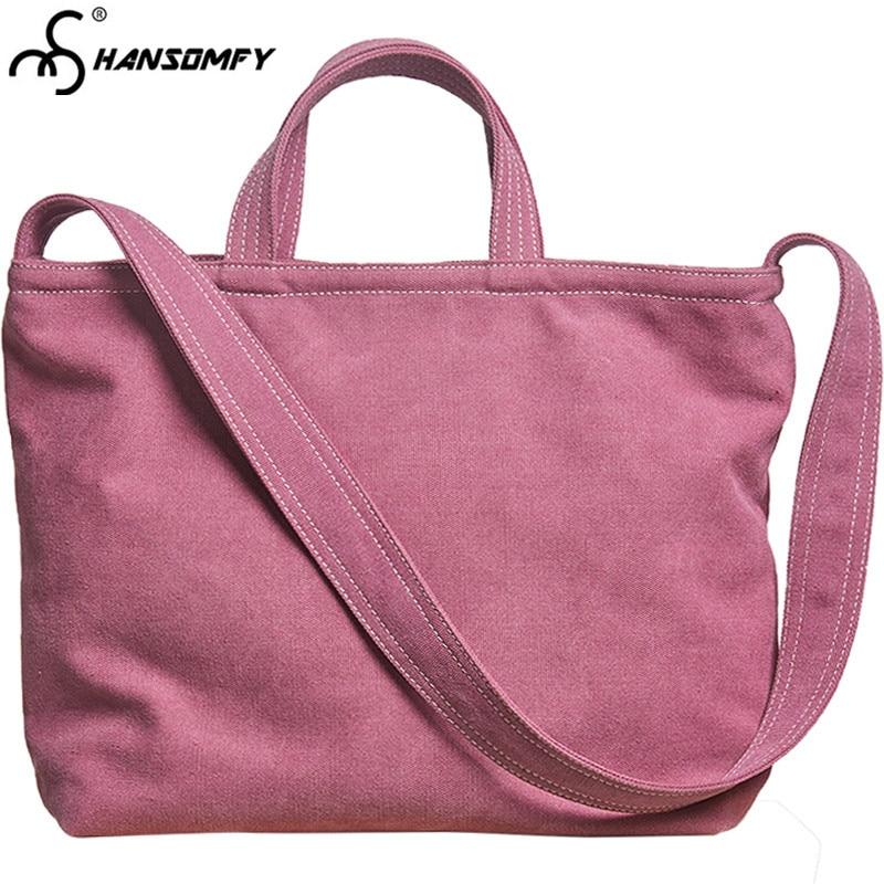 Canvas Female Shoulder Mini Bucket Handbag Sen Small Diagonal Crossbody Cloth Ladies Messenger Bags
