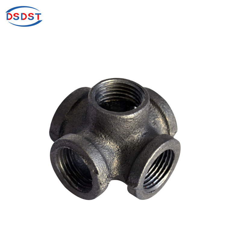 Pipe Fittings 2pcs/lot 3/4 Inch Side Outlet Crossed Female 90 Bs Thread Hardware Pipe Fittings Black Iron Cast Industrial Wall Mounted Home Improvement