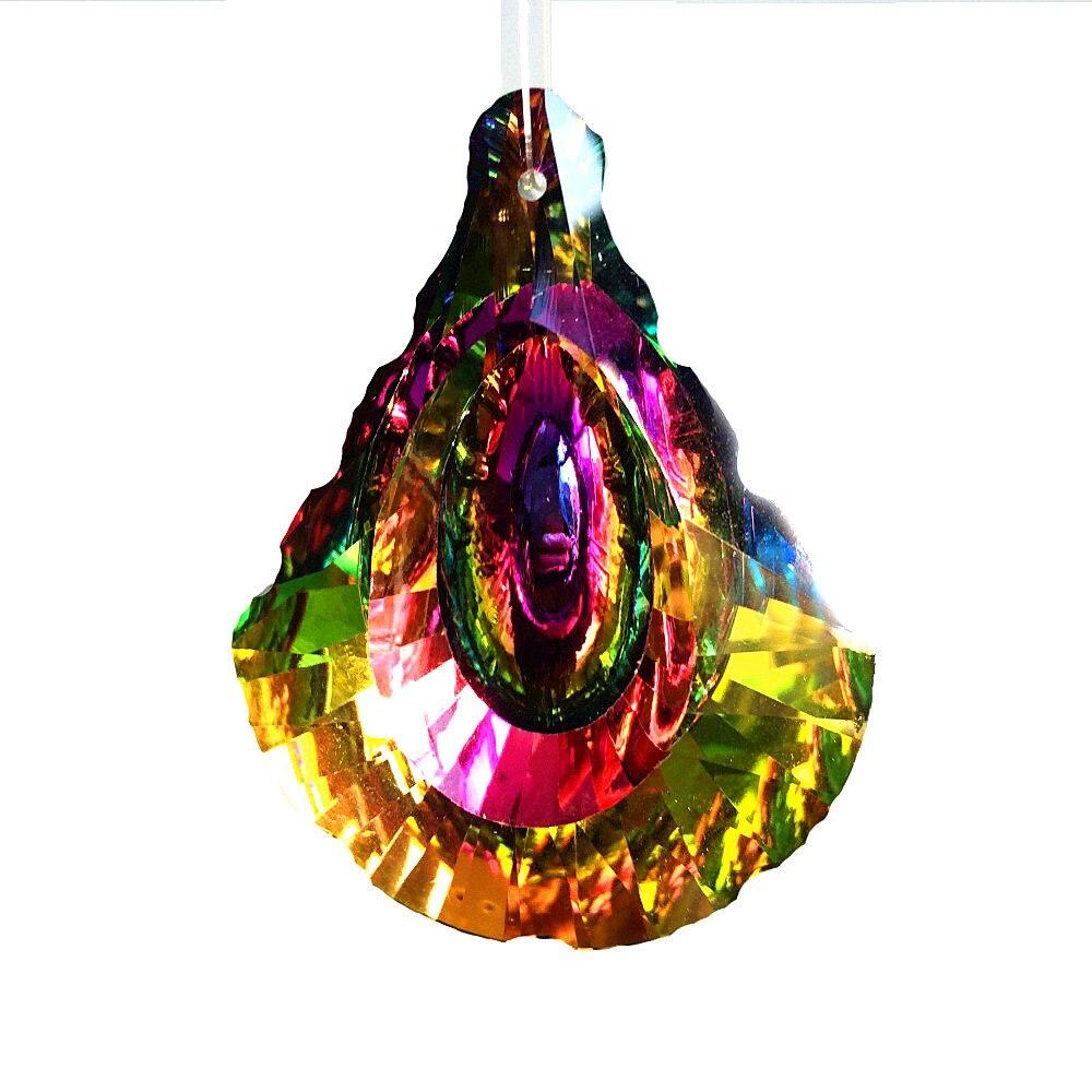 10 unids/lote 63mm colgantes de araña de cristal colorido, prismas de cristal hermosos para la decoración del hogar 10 Uds Interior del coche T5 Led 1 SMD DC 12V Luz de cerámica para salpicadero instrumento de calibre lámpara de luz de cuña lateral para coche de cerámica