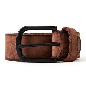 Image 2 - FRALU men high quality genuine leather belt luxury designer belts men cowskin fashion Strap male Jeans for man cinturon hombre