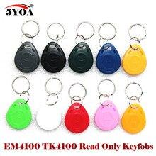 5YOA-etiqueta de identificación RFID EM4100 125khz, 10 Uds., etiquetas de llavero llaveros, Porta tarjetas, llavero, llavero, anillo, Chip de proximidad