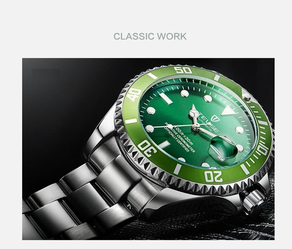 HTB1pcmawYZnBKNjSZFrq6yRLFXaZ Tevise Luxury Waterproof Automatic Men Mechanical Watch Auto Date Full Steel Business Top Brand Man Watches Water Resistant T801