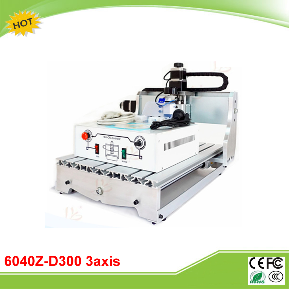 6040Z-D300 3axis mini CNC engraving machine with ball screw 300W DC power spindle 6040z d300 3axis mini cnc milling machine lathe ball screw 300w spindle free tax to ru