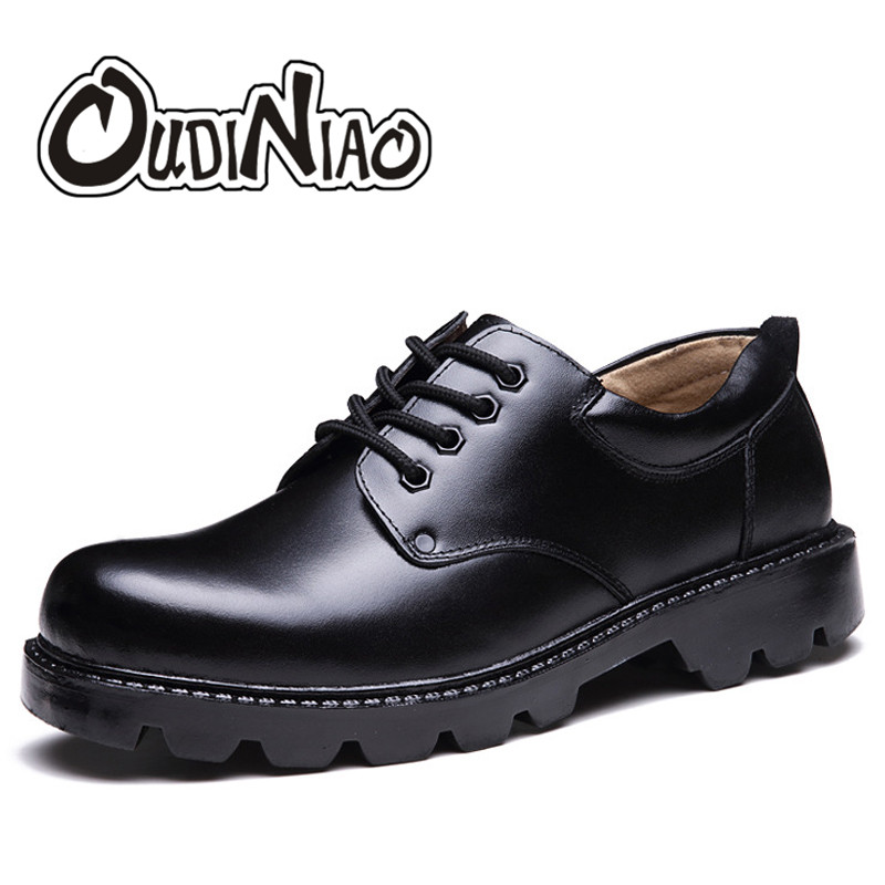 Mens Shoes Large Sizes Casual British Genuine Cow Leather Men Shoes Footwear Army Officer Shoes Men Winter Warm Fur Plush Black