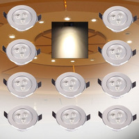Superior 10PCS Ceiling Lamp 3W LED 3x1w Recessed Downlight Roof Down Bulb Spot Light 90 265V