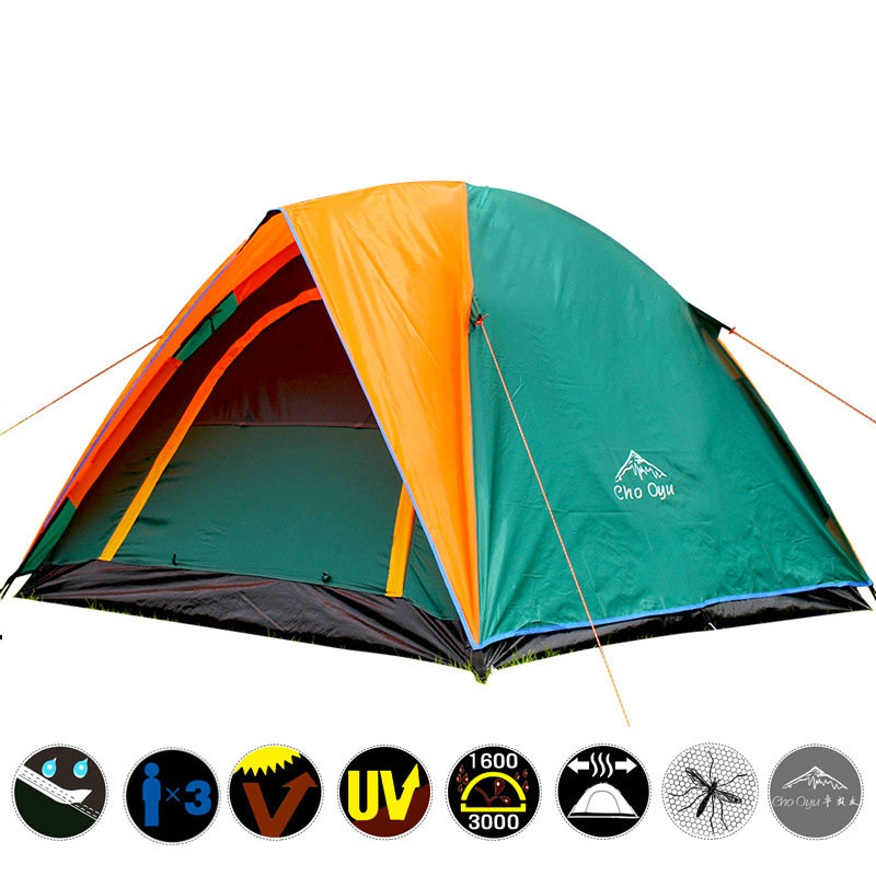 Best Seller Double Layer 3 4 Person Rainproof 4 Season Outdoor Camping Tent for Hiking Fishing Hunting Adventure Picnic PartyBest Seller Double Layer 3 4 Person Rainproof 4 Season Outdoor Camping Tent for Hiking Fishing Hunting Adventure Picnic Party