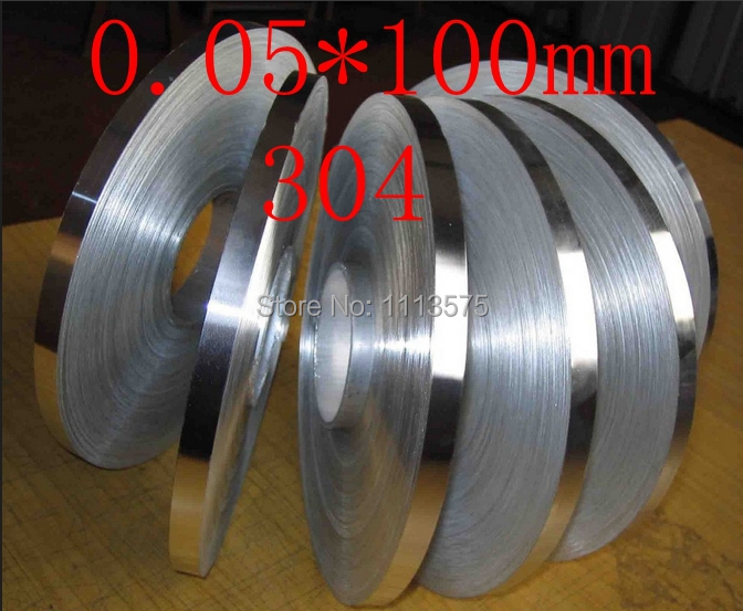 0.05 thickness 0.05*100mm authentic 304 321 316 stainless steel col rolled bright thin foil tape strip sheet plate coil roll  cold rolled stainless steel coil cutter