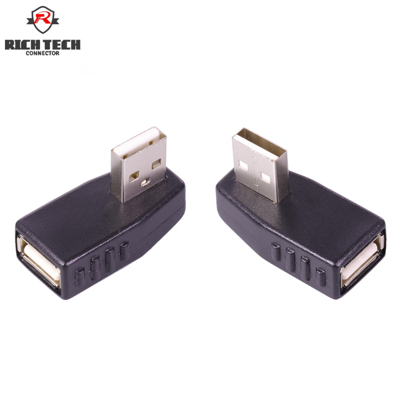 USB connector 90 Degree Elbow USB plug adapter AM to AF converter Notebook tablet computer printer USB cable adapterUSB connector 90 Degree Elbow USB plug adapter AM to AF converter Notebook tablet computer printer USB cable adapter