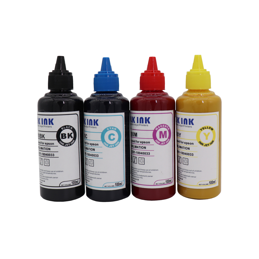 400 ML Universal Sublimation Ink For Heat Press Machine for Epson Inkjet Printers Heat Transfer Used For T-shirt/Mug/Cup/Shoes