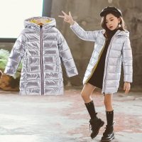 Puckcovi Winter coat for kids Winter Hooded overcoat Girls winter parkas Warm long coat Little girls clothing Age for 3 13years