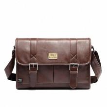 Fashion England Style PU Leather Men's Messenger Bags Man casual Bag high Quality Travel Shoulder Handbag Man school bag LI-812
