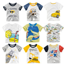 CALOFE/футболка для мальчиков с мультяшным принтом летние футболки для мальчиков младенцев, девочек с изображением тигра хлопковые топы с надписями для малышей