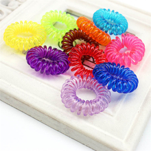 Wholesale Little Girls Plastic Hair Braider Head Colorful Rope Spiral Hair Ties Hair Styling Tools Telephone Wire Accessories
