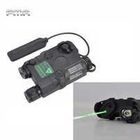 FMA-linterna LED táctica AN/PEQ-15, luz láser de Punto Verde blanca, iluminador IR para caza al aire libre, color negro/bronceado